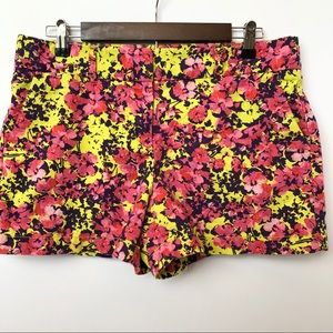 LOFT Shorts - Ann Taylor Loft Colorful Floral Shorts • Size 8
